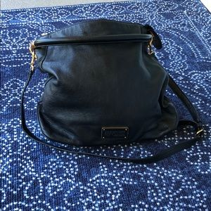 Marc by Marc Jacobs black leather hobo bag